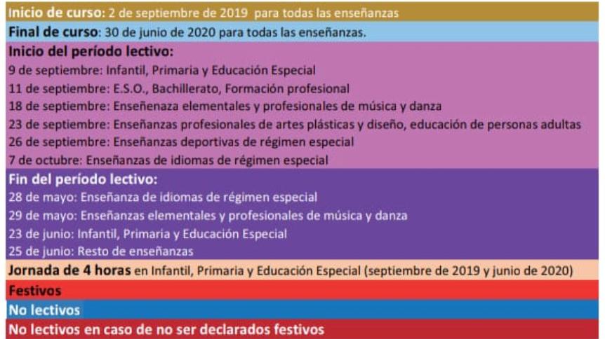 Calendario Escolar Cantabria 2020.Publicado El Calendario Escolar Para El Curso 2019 2020
