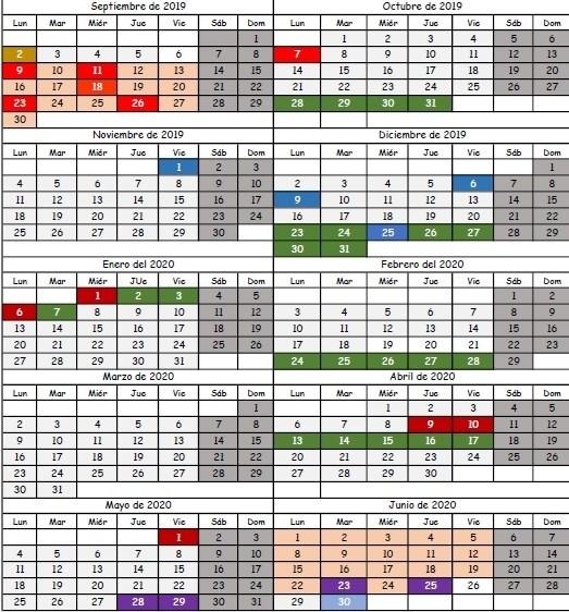 Calendario Festivo Espana 2020.Aprobado El Calendario Escolar 2019 2020 Sin El Apoyo De La